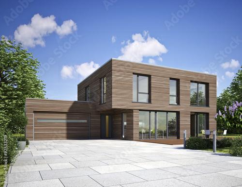 Haus modern holz stockfotos und lizenzfreie bilder auf for Holzhaus modern bauen