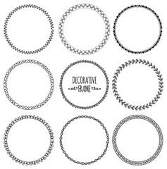 set of decorative frame doodle