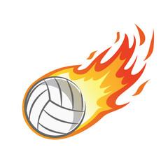 flaming volley ball