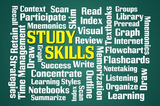 Study Skills Word Cloud