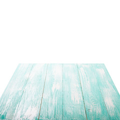 Empty wooden table for product montage