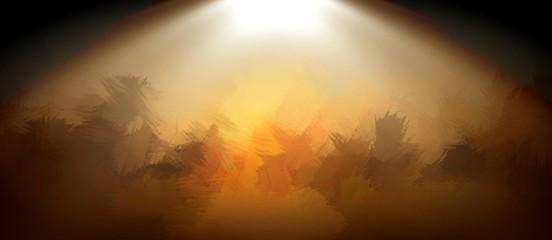 blurr abstract background with god light on stage
