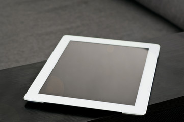 white tablet closeup