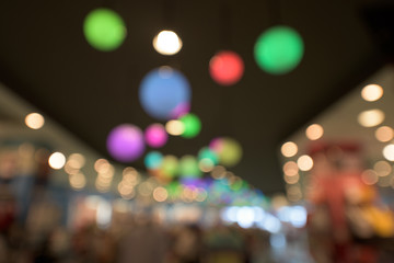 Bokeh abstract of colorful light interior