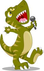 cute dinosaur singing cartoon