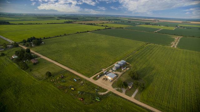 Aerial Shot of Farm