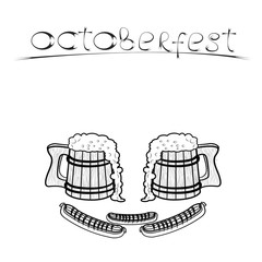 Vector Background of the glasses of beer octoberfest for you design