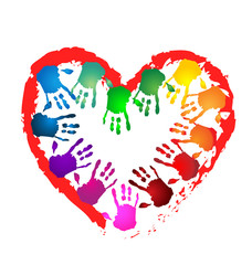 Hands heart shape logo