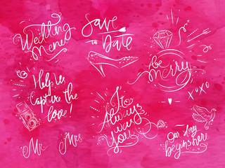 Wedding signs pink