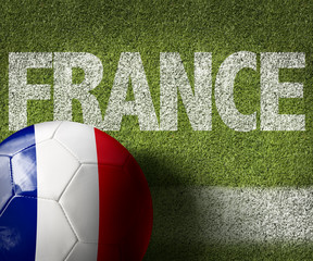 France Ball in a Soccer field