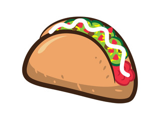 taco isolated on white background
