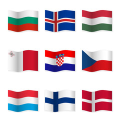 Waving flags of different countries 6