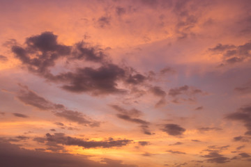 purple sunset sky with clouds