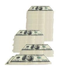 100 dollar bill - stacked