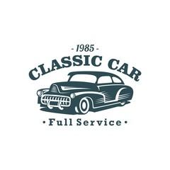 Classic Car Vector Template