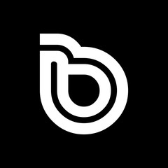 Black and Whirte Initial Rounded B Media