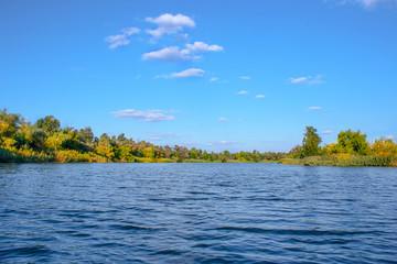 Papiers peints Riviere landscape image of a large river shore vegetation