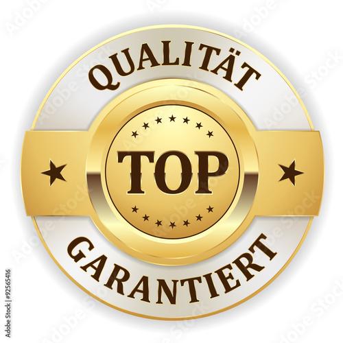 goldener top qualit t garantiert siegel mit wei em rand. Black Bedroom Furniture Sets. Home Design Ideas
