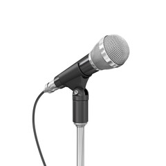 Microphone on white background.