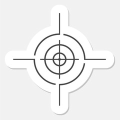 Vector target icon, Crosshair