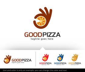 Good Pizza Logo Template Design Vector