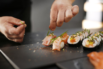 Fotobehang Sushi bar Sushi.