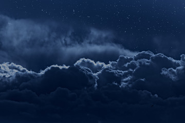 Aluminium Prints Night Cloudy night sky
