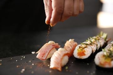 Fototapeta Sushi menu