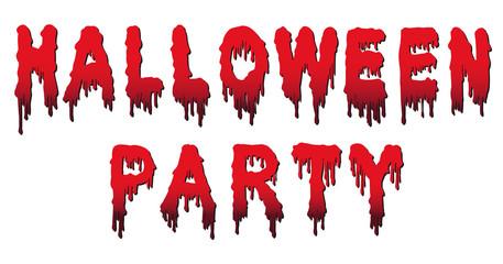 Halloween Party Words - Written in Blood - Party, Text, Blutspur, Blut, triefend, fließend, gruselig