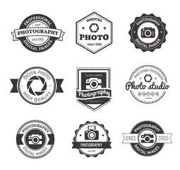 Set of photography studio logos