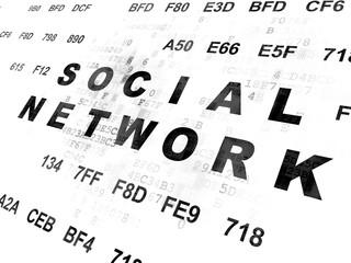 Social media concept: Social Network on Digital background