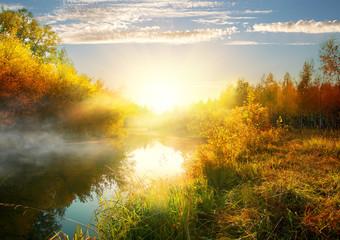 Foto op Aluminium Rivier River in autumn