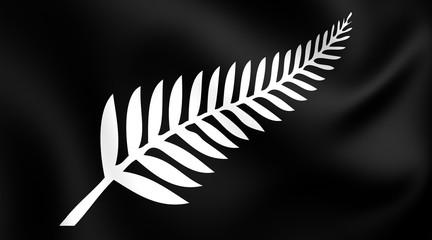 Silver Fern Flag, New Zealand.
