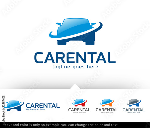 Car Rental Logo Template Vector Design Stock Image And Royalty Free