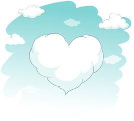 Heart shape cloud in the sky