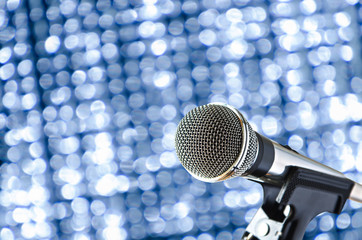 microphone with bokeh background