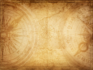 Poster Ship Pirate and nautical theme grunge background