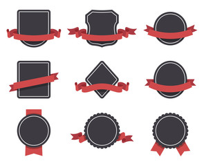 Labels and ribbons vector set. Design elements