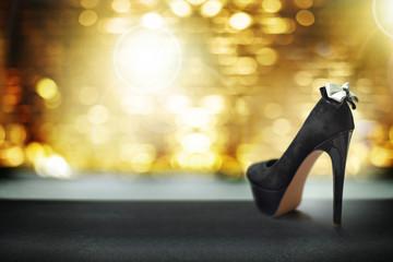 Luxurious black high heels