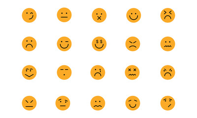 Smiley Colored Vector Icons 6