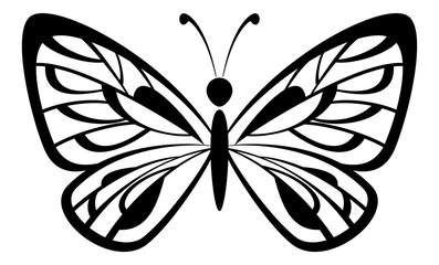 Butterfly Black Pictogram