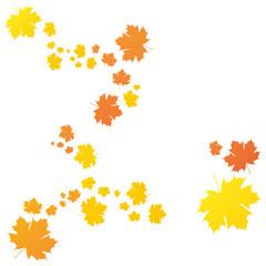 Fliegende Herbstblätter in gelb und orange