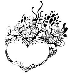 Herz, Blumen