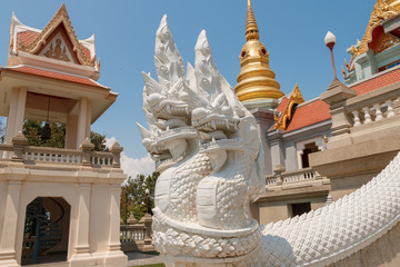 King of naga statue at Temple in Thailand