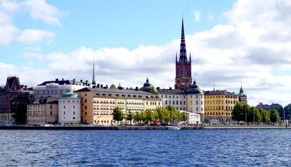 Landscape of Stockholm oldtown city