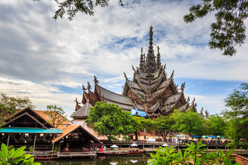 Sanctuary of Truth is a temple construction in Pattaya, Thailand