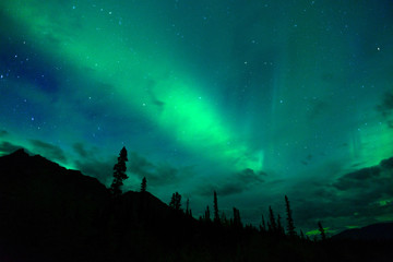 Wrangell Mountains Northern Lights Aurora Borealis Alaska Night