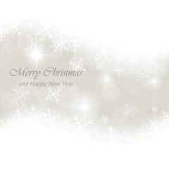 Glowing vector Christmas card with snowflakes, bubbles and stars.