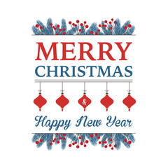 Christmas Text Design with Greetings
