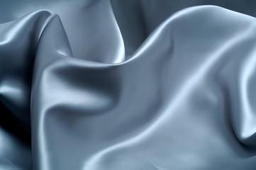 Blue Waved Silk